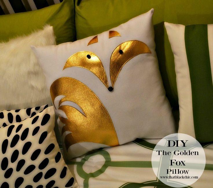 [DIY Fox Applique Pillow] (That Black Chic) & 769 best diy-pillows images on Pinterest   Cushions Diy pillows ... pillowsntoast.com