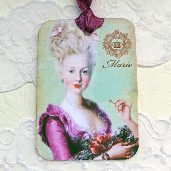 Tags Marie Antoinette Gift Hang Birthday by EnchantedQuilling
