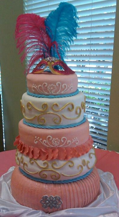 Mascarade cake.