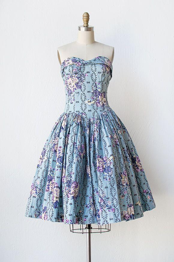 vintage 1950s dress   50s dress   Rosemonde Estate Dress #vintage #1950sdress
