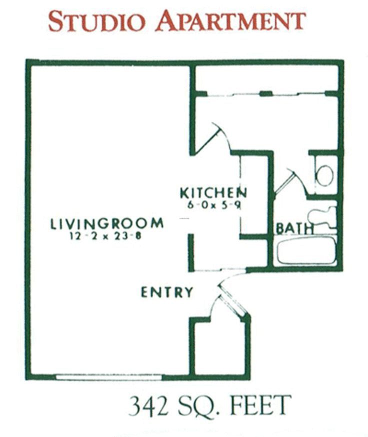 The Open Floor Plan Allows You To Make Your Bed In One Area One Week, · Studio  Apartment ...