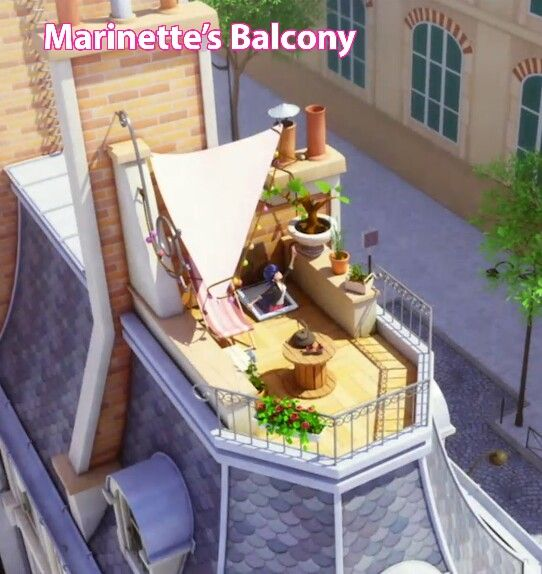 I Want To Live In Marinettes House So Badly Her Balcony