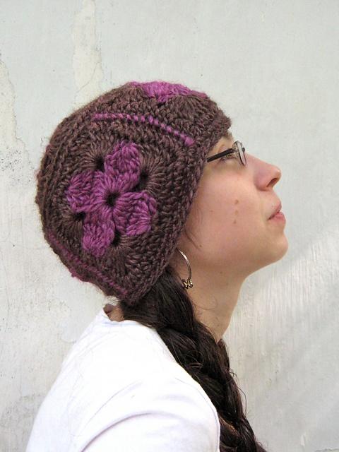 Crochet Granny Square Beanie Pattern : Granny Square Beanie Crochet Hats Pinterest Beanie ...