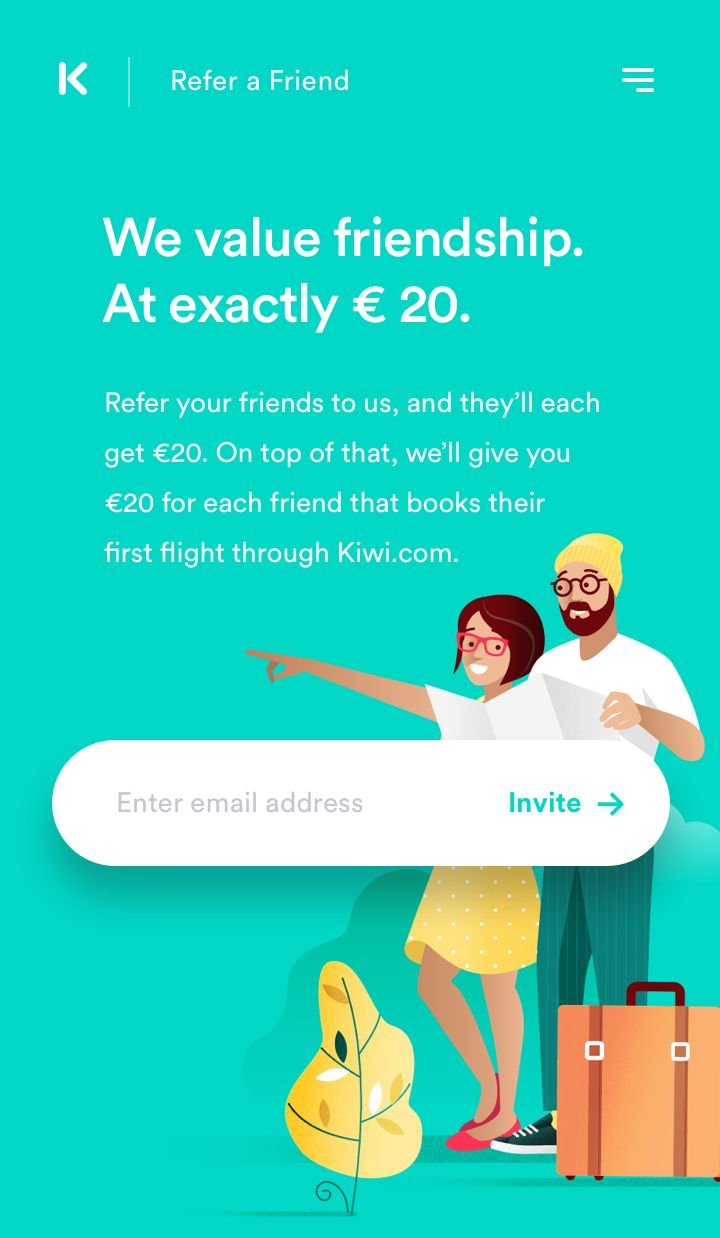 Refer a Friend – Mobile Version