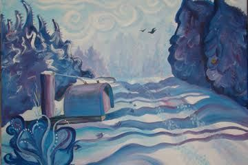 Therese Masters Jacobson, Argyle--Painter. Featured Artist at Lanesboro Arts Center Exhibition Gallery. Also, a valued member of NWMAC! 'Misty Mailbox', Acrylic