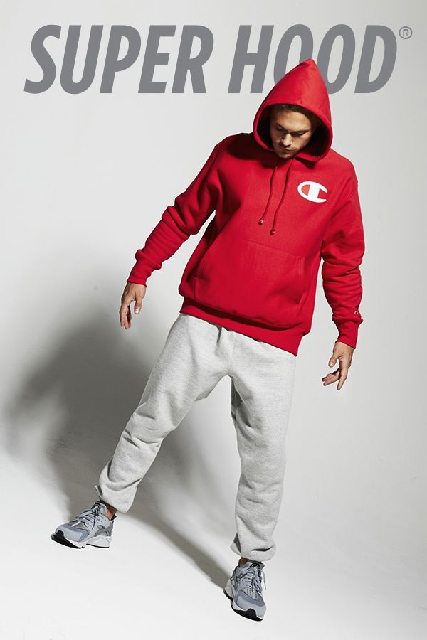 Pull off the look in our Champion Super Hood® Pullover Hoodie.