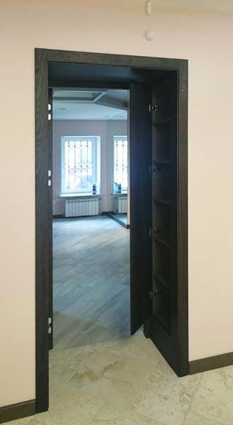 Потайной шкаф внутри проема. МДФ шпон.  #арки #порталы #оформлениеинтерьера