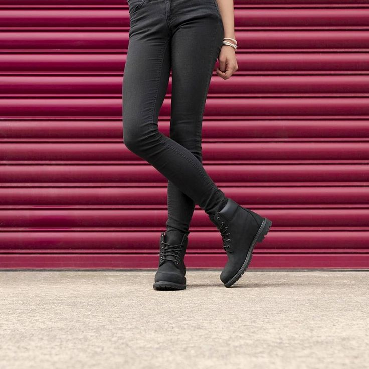Nubuck love featuring the Timberland '6 Inch Prem'. Shop: https://www.shoeconnection.co.nz/womens/sneakers/casual/timberland-6-inch-premium-womens-lace-up-boot?c=Black%20Nubuck%208658A