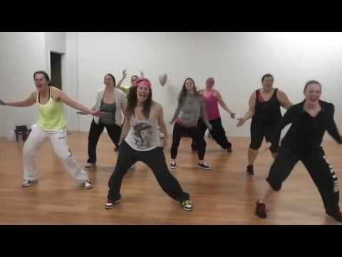 """NEW Dance Fitness/Zumba routine to """"Timber"""" by Pitbull and Kesha - YouTube"""