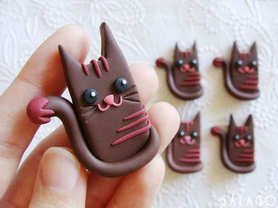 Gato en pasta de modelar ~ Gatos curiosos