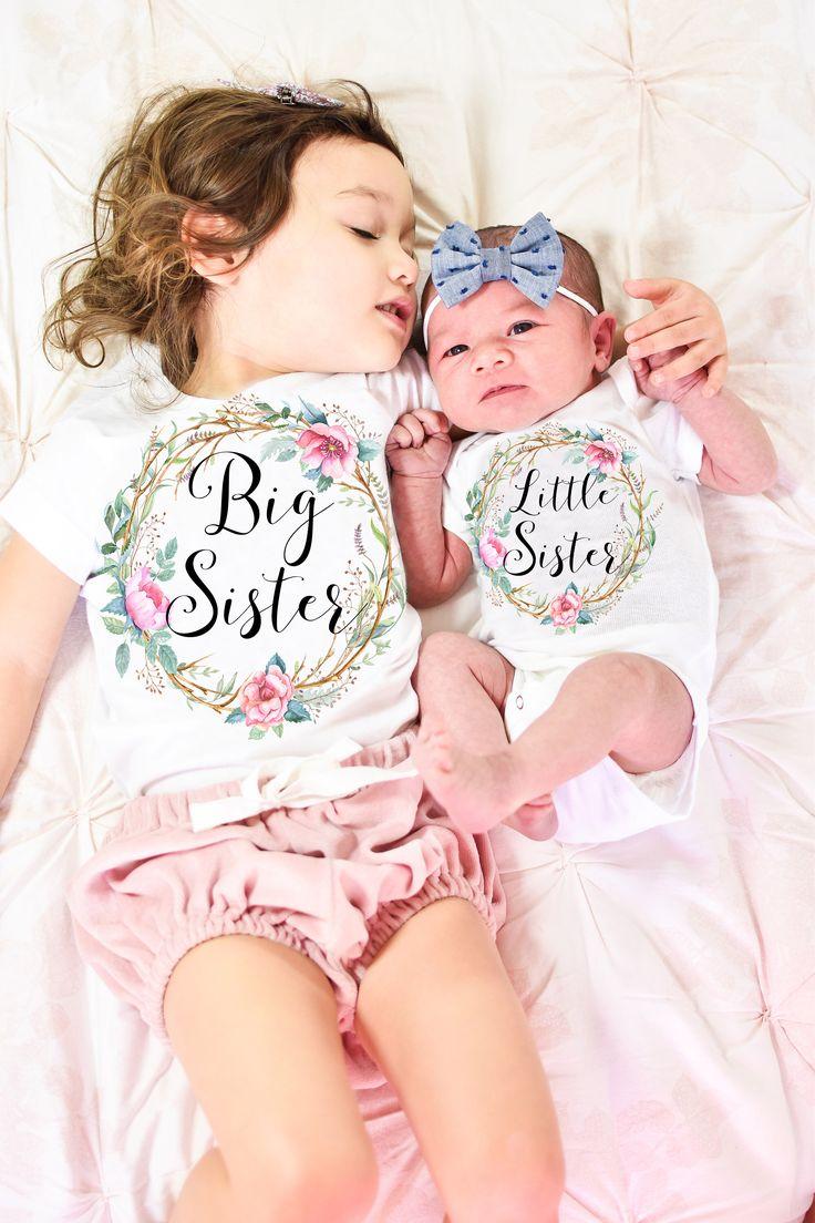 Big Sister Little Sister Set, Big Sister Little Sister Outfit, Big Sister Shirt, Little Sister Bodysuit, Sisters Set by ValerieandVivienne on Etsy https://www.etsy.com/listing/273821778/big-sister-little-sister-set-big-sister