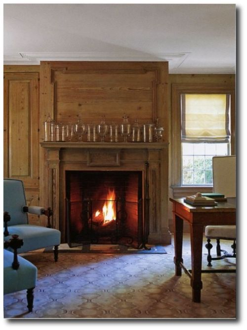 Get The Colonial Look- Designer Steven Gambrel's Sag Harbor Home -  Beautiful Color Schemes &
