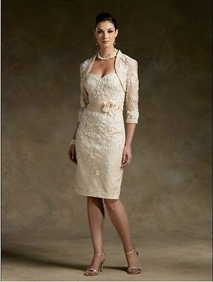 New Noble champagne Lace Mother of the Bride dresses and jacket