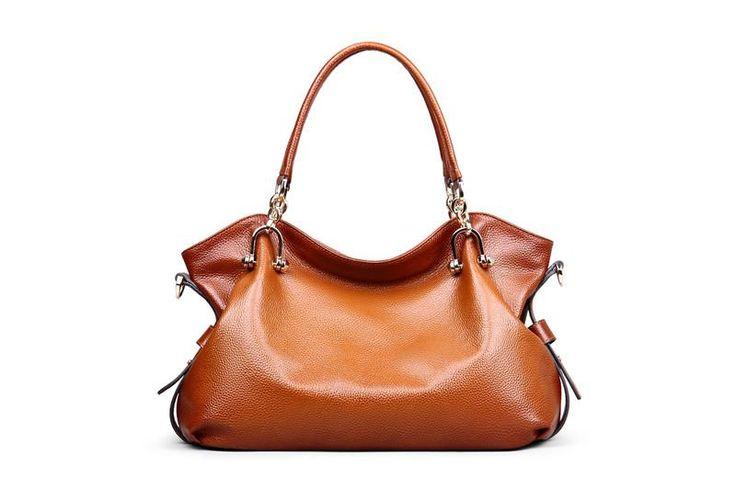 Designer Brown Leather Tote Bag https://largepurseshop.com/collections/designer-large-purse/products/designer-brown-leather-tote-bag