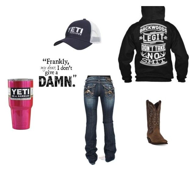 """Done with fake friends✌️"" by johndeerebabe ❤ liked on Polyvore featuring Laredo and Miss Me"