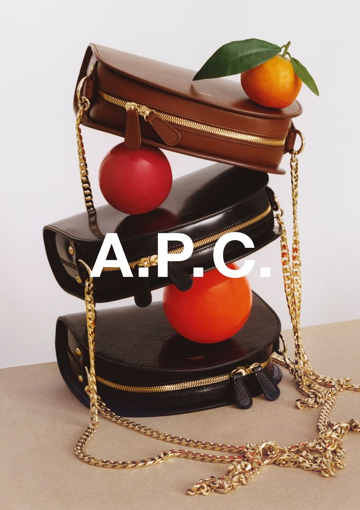 """apcofficial:  """"A.P.C. accessories campaign.  Photography by Coco Capitan.  """""""