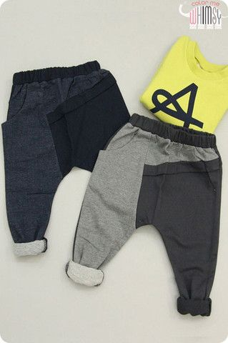 Split Slouch Pants. Street fashion styles for boys at Color Me WHIMSY.