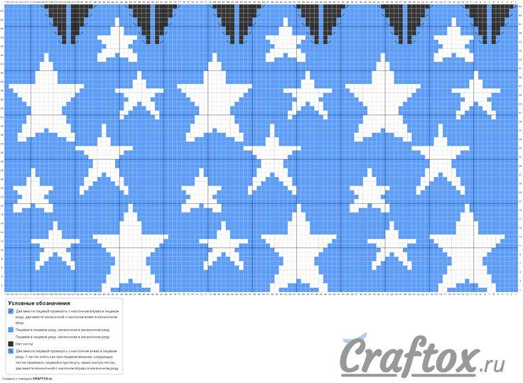 pattern-chart-1-slouchy-beanie-with-stars-jacquard-knitting-pattern.png (2362×1730)