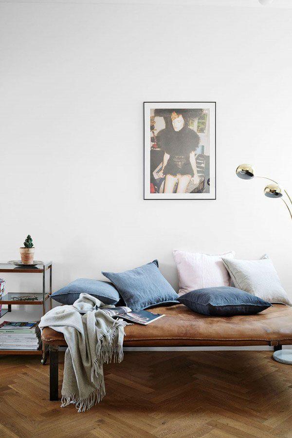 Mooie kleurencombi, jeans en bruin