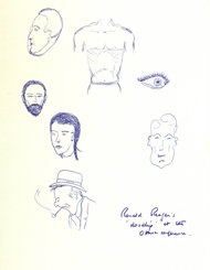 """Reagan left the piece of paper sitting on a table at the meeting near Ottawa, Canada, in July 1981. It is adorned with a scribbled eye, a man's muscular torso and several heads, including one that looks like a self portrait.  """"She told me it was fascinating to see it, and she just grabbed them,"""" said historian Chris Collins of the Margaret Thatcher Foundation. """"He just left it on his desk. She snaffled it up, put it in her papers, brought it back to Downing Street and kept it in her flat."""""""