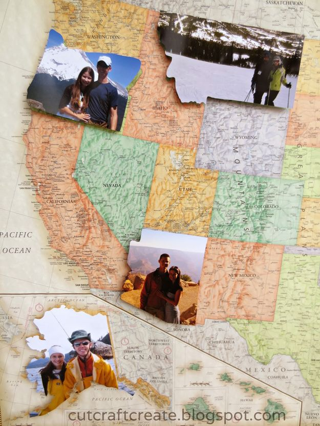 photo map for different states that you've been to