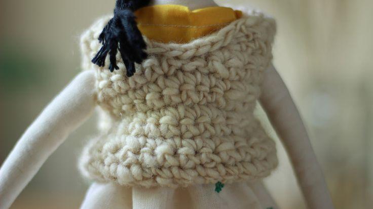 Chaleco tejido con lana de oveja natural