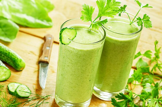 the best smoothie ingredients include cucumber and parsley