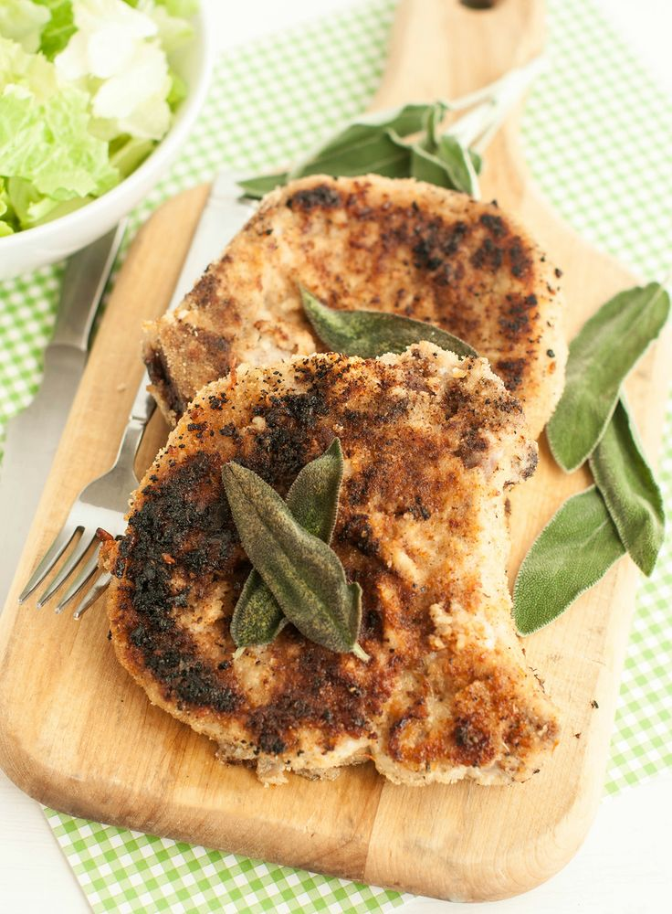 Parmesan sage crusted pork chops | Foods & Recipes | Pinterest
