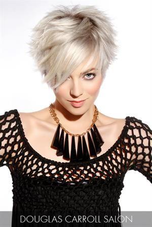 Blonde Hair Gallery. Platinum short haircut.