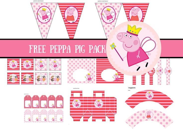 Free princess peppa pig printable free peppa pig for Peppa pig cake template free