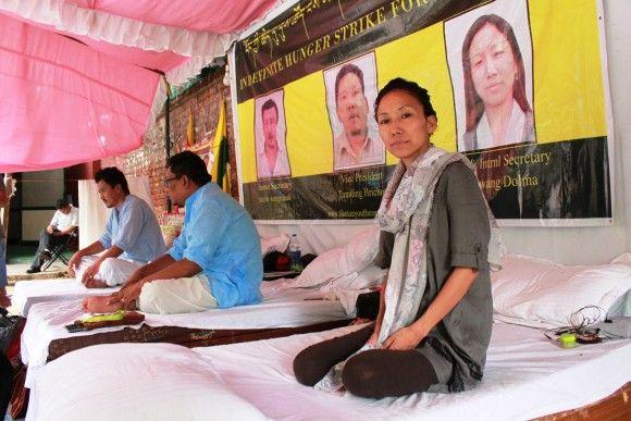 Dolma mène une grève de la faim pour éveiller les consciences sur les abus des droits de l'homme au Tibet. (Venus Upadhayaya/Epoch Times)