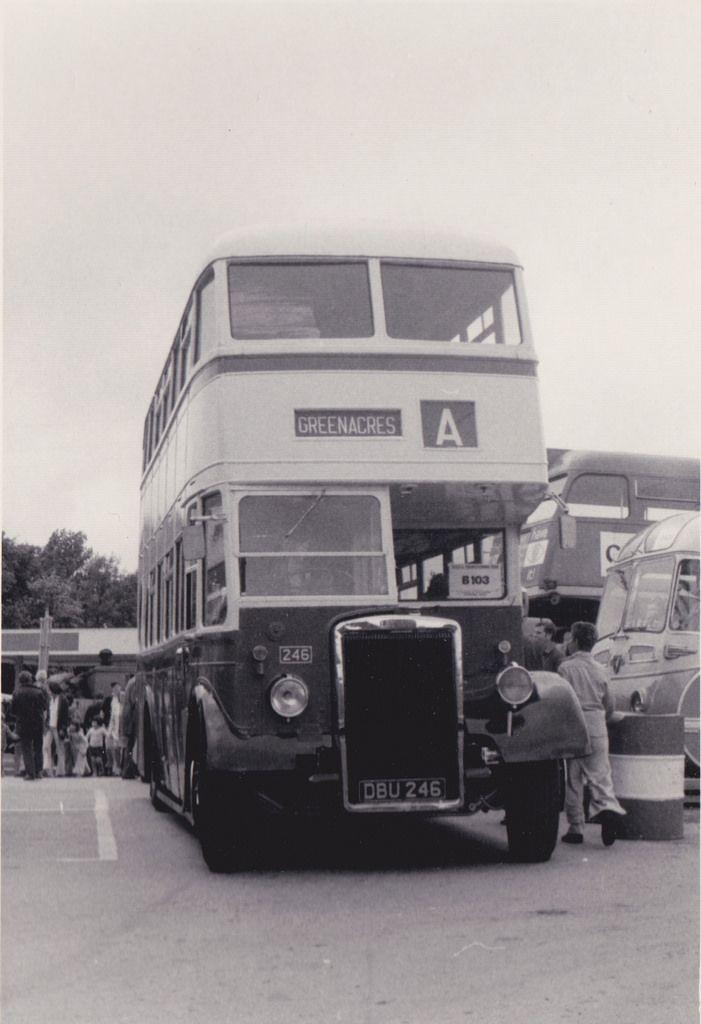 Alle Größen | Trans-Pennine Rally 1976 - ex-Oldham Corporation Transport Leyland Titan 246 at Harry Ramsden's, White Cross, Guiseley | Flickr - Fotosharing!