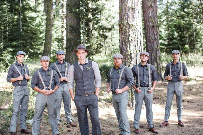 vintage inspired groomsmen, different colors for our wedding but love this style