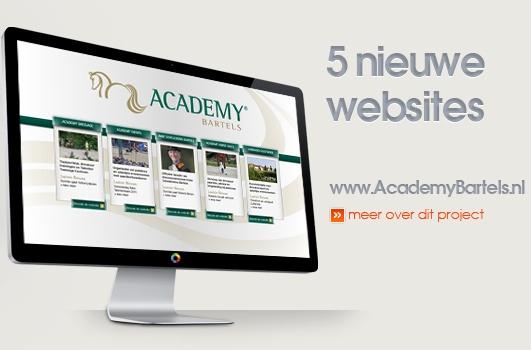 Een portal met 5 nieuwe websites gerealiseerd voor Academy Bartels. www.academybartels.com #Trots