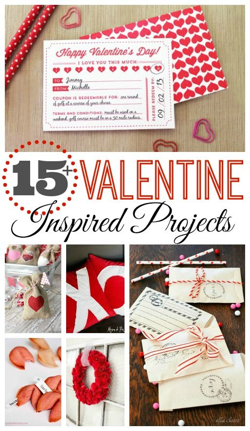 Love all of these Valentine's Day inspired projects!