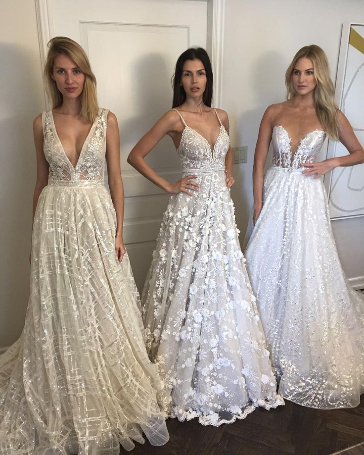 `New York Bridal Fashion Week Show fall 2016 new collection wedding dress designer bridal gown catwalk runway berta bridal v neckline a-line http://wedding-dress-tips.us
