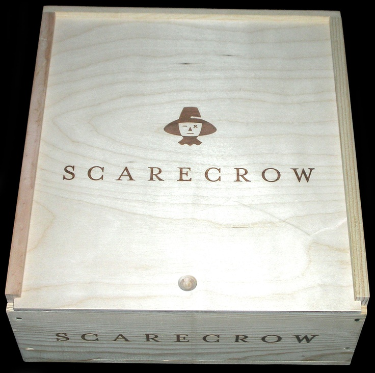 Scarecrow 3 Bottle Wood Wine Case from Napa Valley
