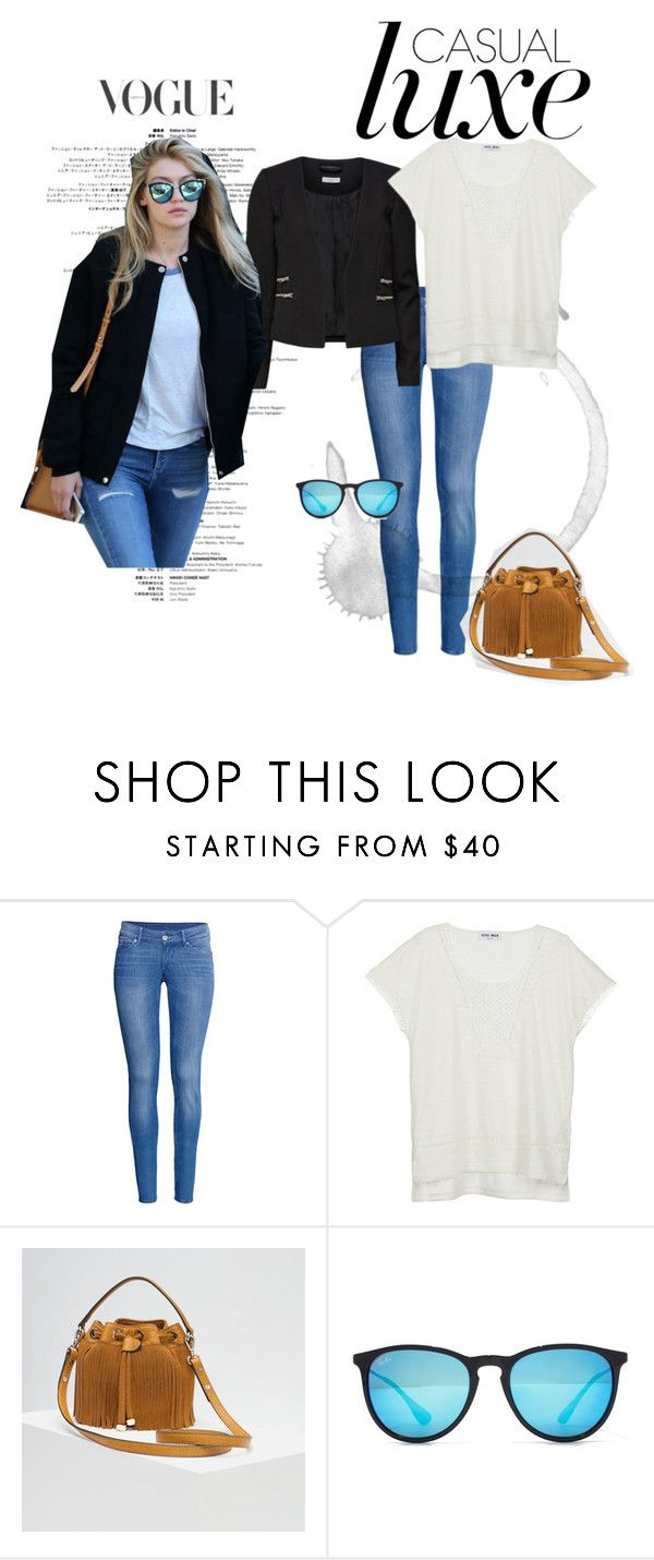 """""""Gigi Hadid inspired"""" by girlie-contrast on Polyvore featuring H&M, Vero Moda, Victoria Beckham, Zara and Ray-Ban"""
