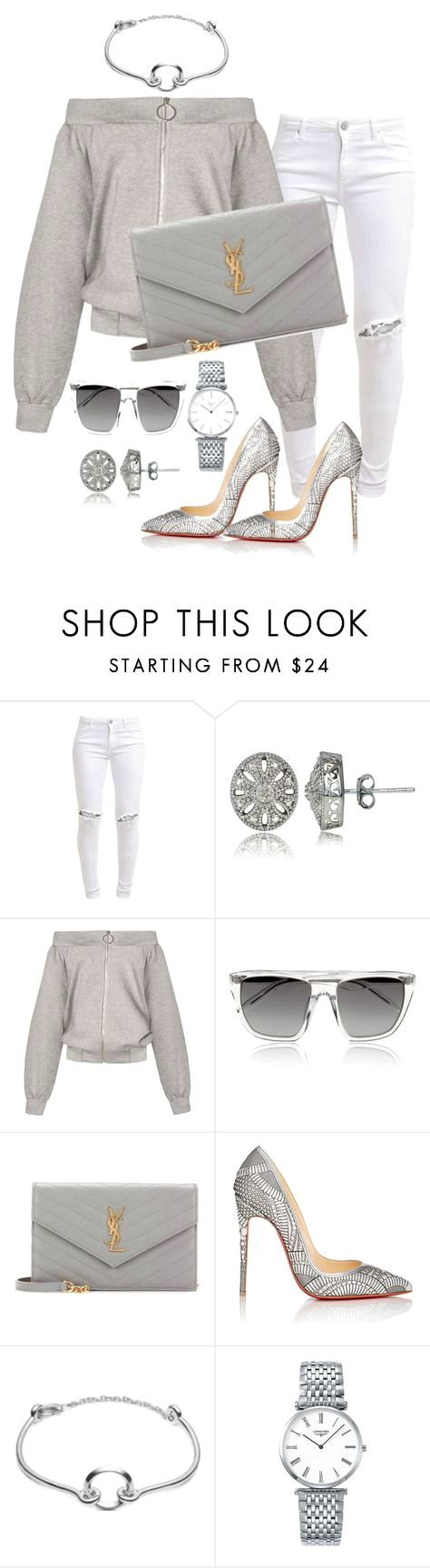 """Untitled #139"" by styledbytammy on Polyvore featuring FiveUnits, DB Designs, Alexander Wang, Yves Saint Laurent, Christian Louboutin, Eddie Borgo and Longines on the lookout for limited offer,no taxes and free shipping.#shoes #womenstyle #heels #womenheels #womenshoes  #fashionheels #redheels #louboutin #louboutinheels #christanlouboutinshoes #louboutinworld"