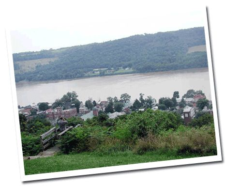 Ohio River Scenic By-Way, Ripley, Ohio. Site includes links for places to stay and visit