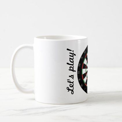 Let's play! Darts mug - coffee custom unique special