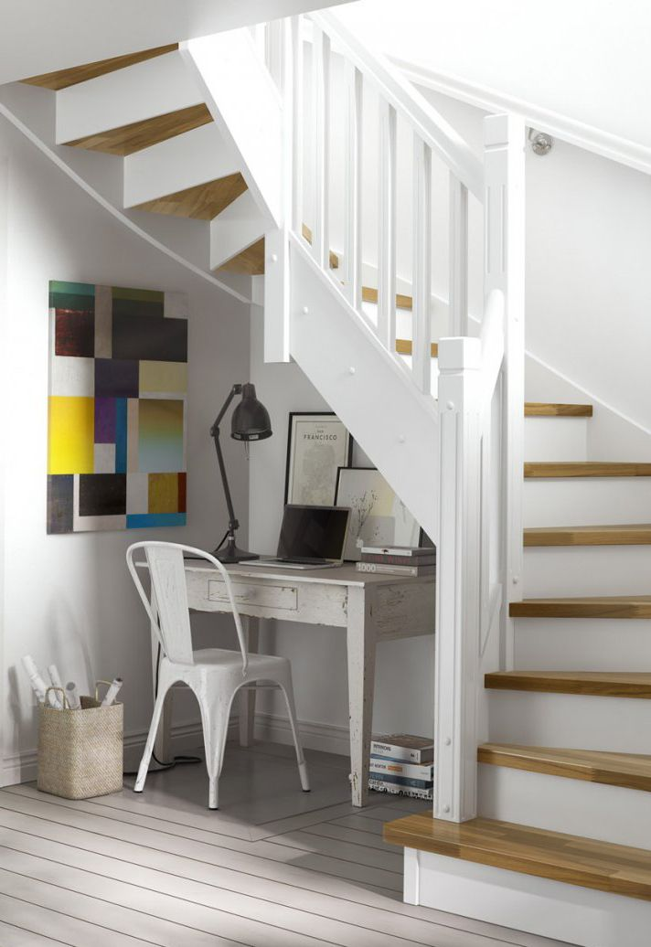Keep space understairs open to allow constant changes in functionality