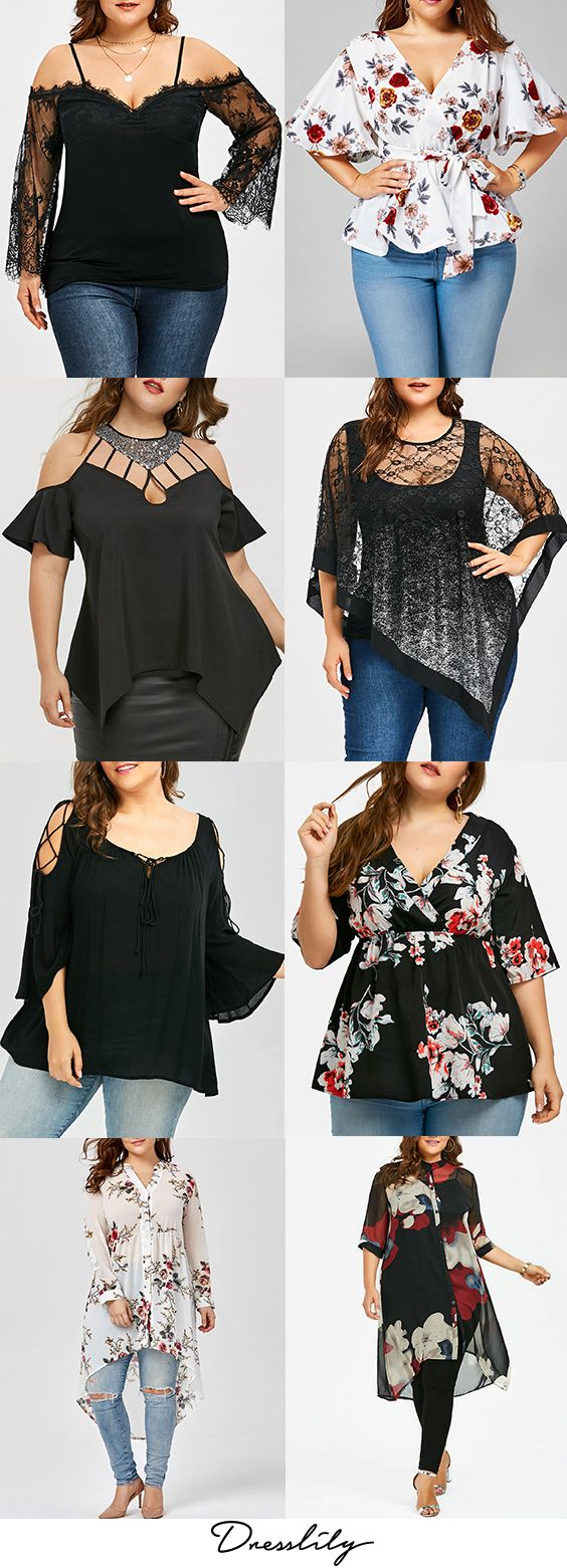 Buy the latest plus size blouses for women at cheap prices,best plus size blouses at Dresslily.com.#plussize#blouses