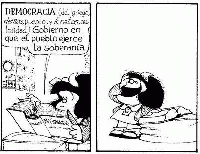 mafalda is 50. Y tan al dia como siempre