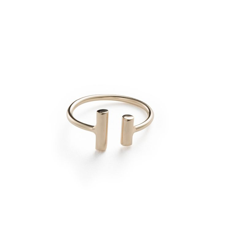Open Drums Ring - 14k Gold / Free Series