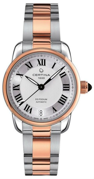 Certina C025.207.22.038.00 Women Watches : Automatic Roman Numerals Date Dial Two Tone Stainless Steel