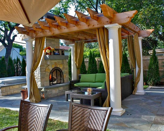 Cozy up by the outdoor fireplace. for outdoor patio furniture ideas check  out our store - 2207 Best Images About Outdoor Patio Furniture Ideas On Pinterest
