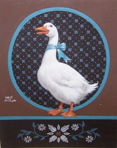 "(1912-2000 American) ""The Duchess"", unframed acrylic on illustration board"