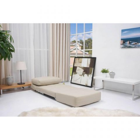 Rita Faux Leather Futon Chair Bed in Cream – Next Day Delivery Rita Faux Leather Futon Chair Bed in Cream from WorldStores: Everything For The Home
