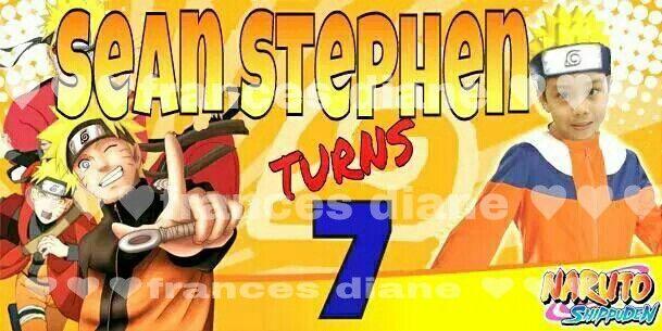 Naruto Birthday Tarp Seanstephen 7 Tarpaulin Design
